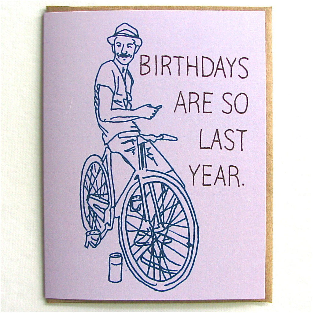 Last Year Hipster Birthday Card
