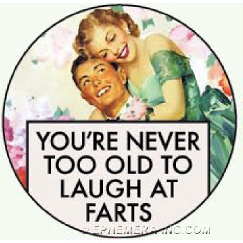 Laugh At Farts Round Magnet