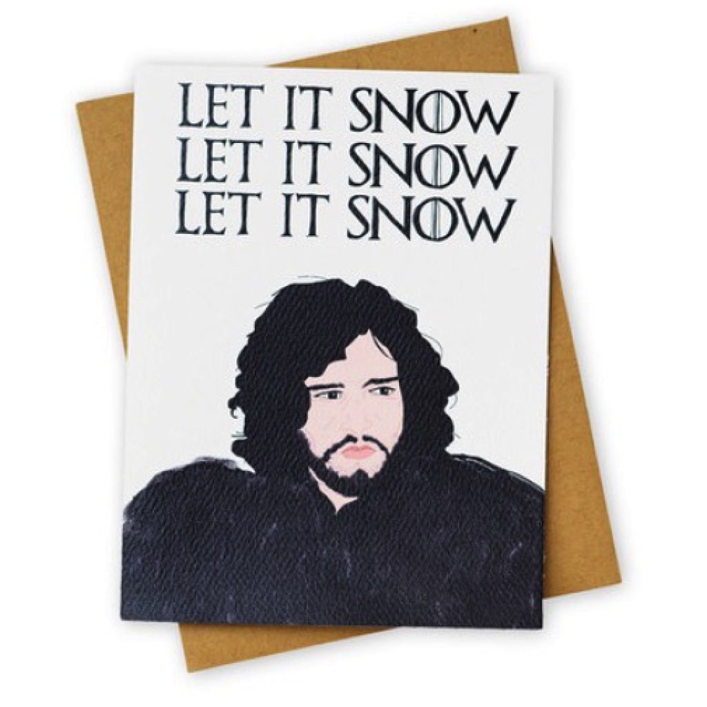 Let It Snow Game Of Thrones Christmas Card