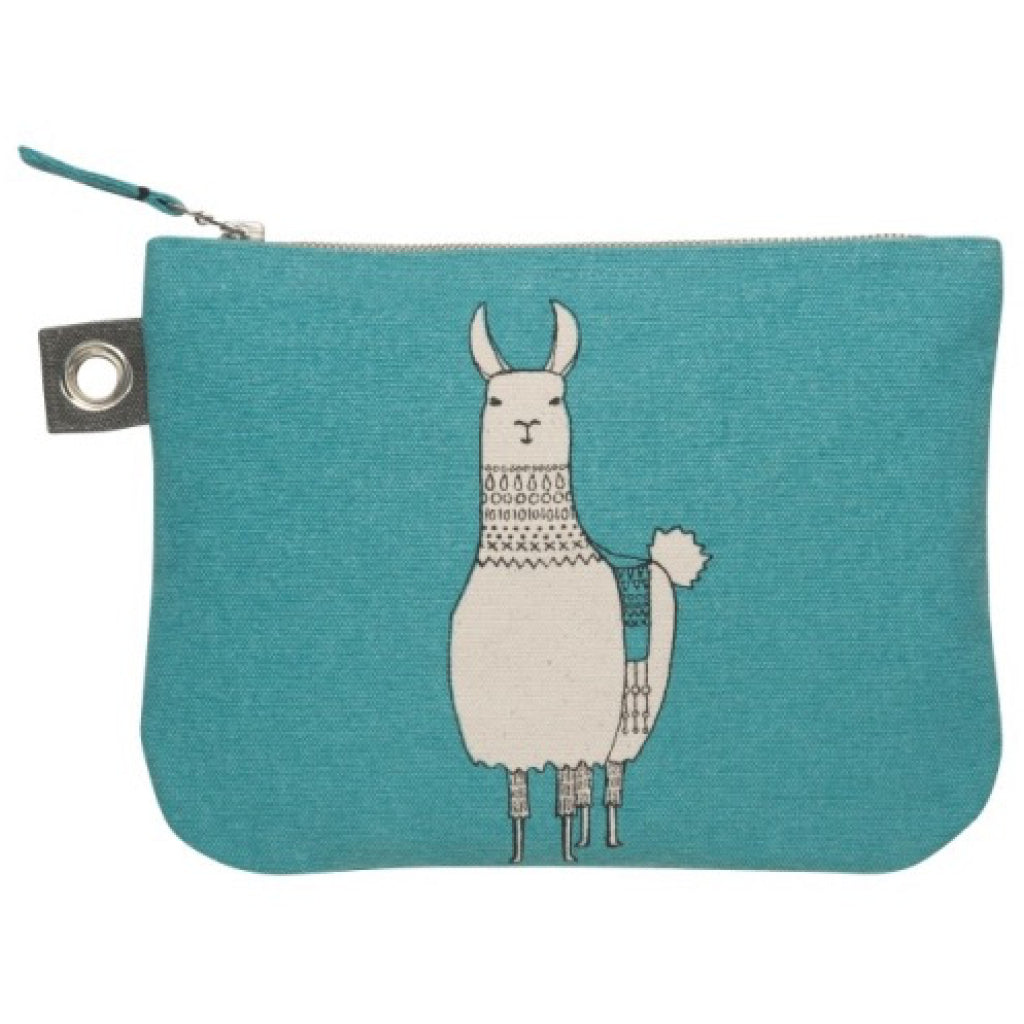 Llamarama Large Zipper Pouch back