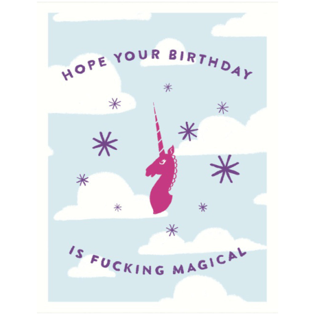 Magical Unicorn Birthday Card By Seltzer Goods Outer Layer