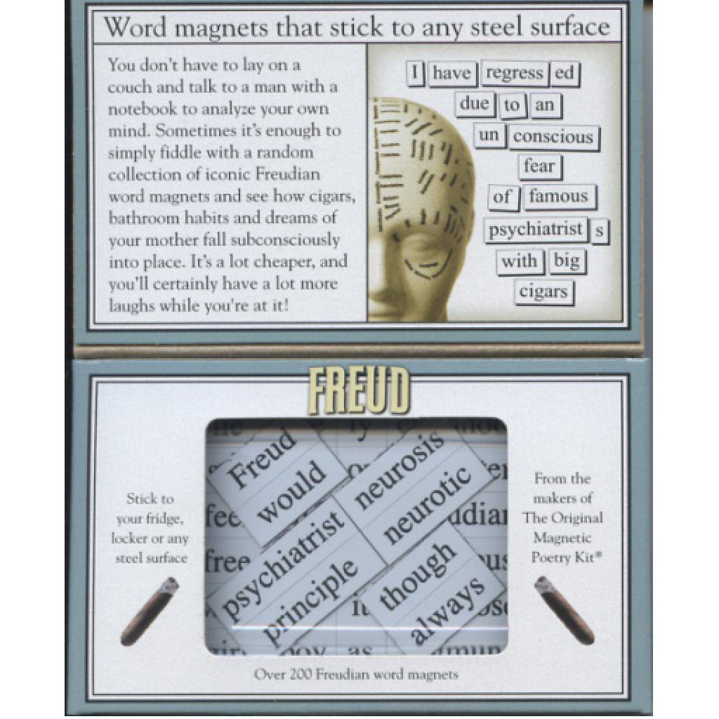 Magnetic Poetry Freud open