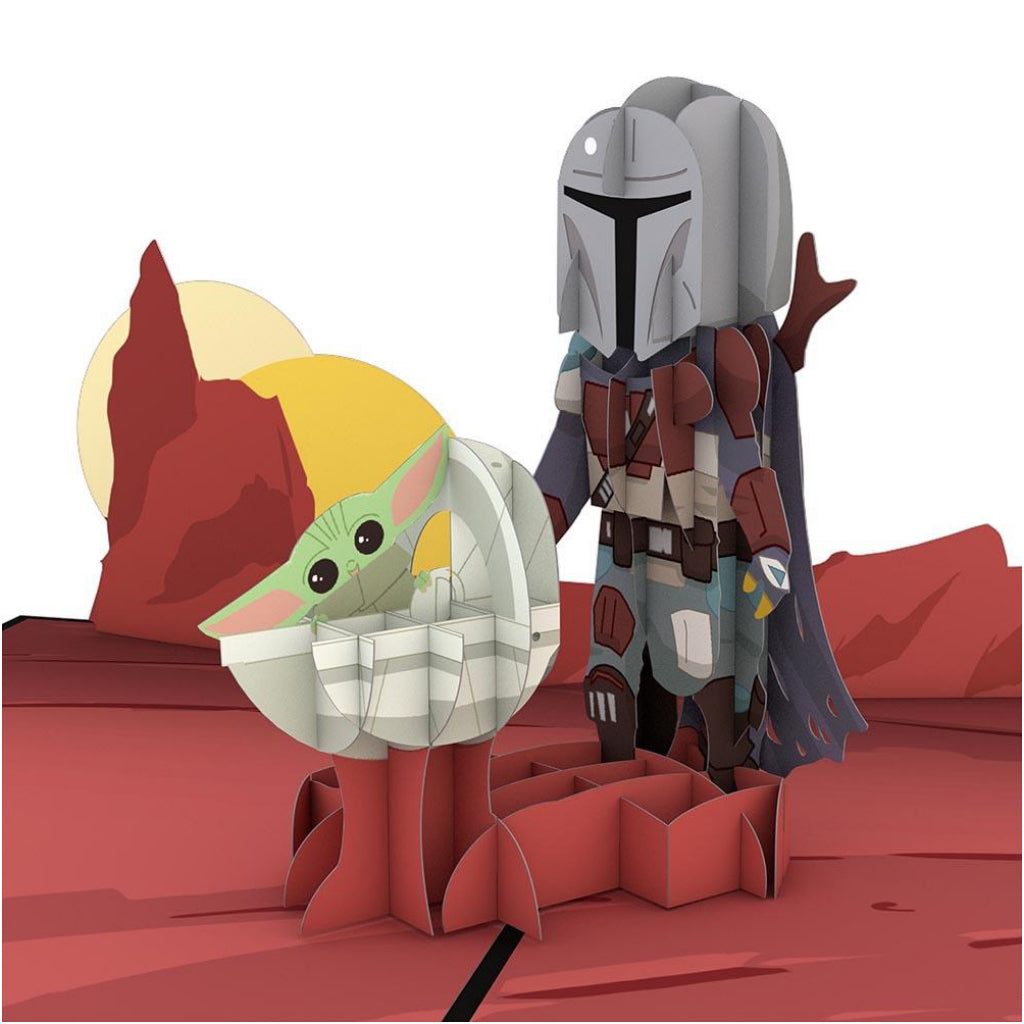 Mandalorian Father's Day 3D Pop Up Card