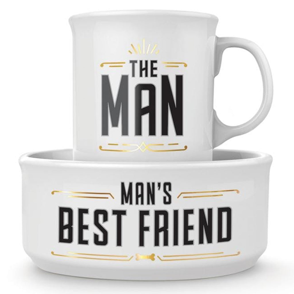 Man's Best Friend Ceramic Mug & Dog Bowl Set