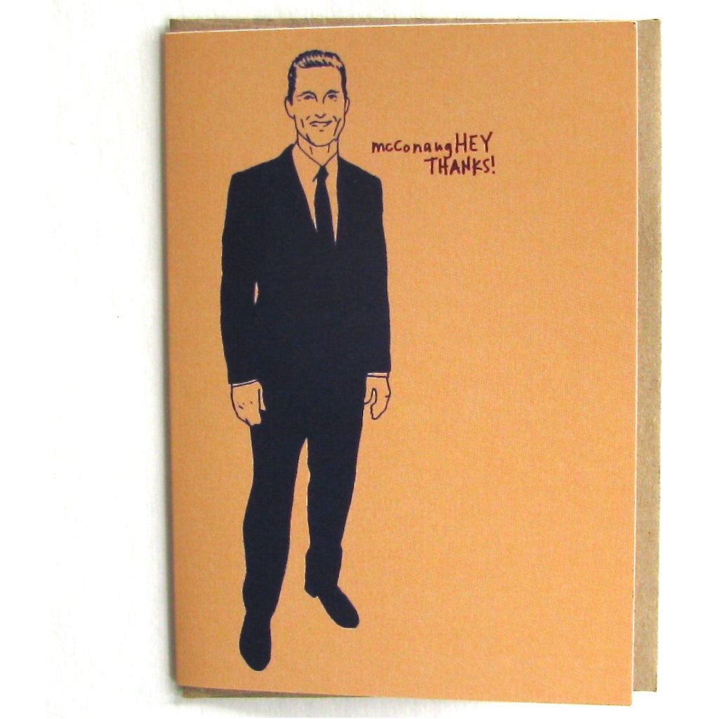 McConaugHEY Thanks Card