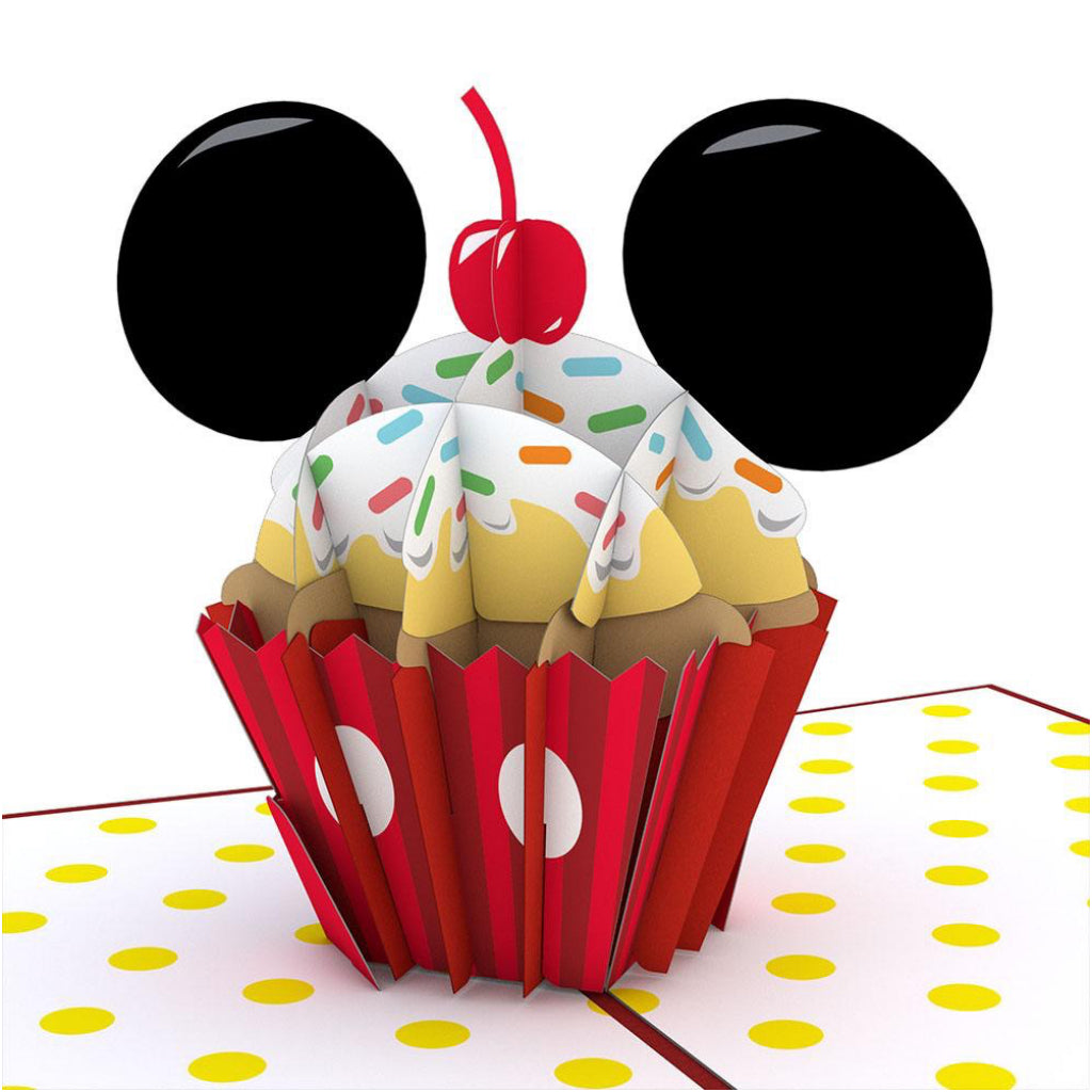 Mickey Mouse Birthday Cupcake 3D Pop Up Card