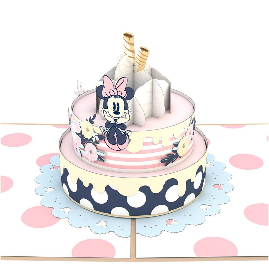 Minnie Mouse Birthday Cake 3D Pop Up Card