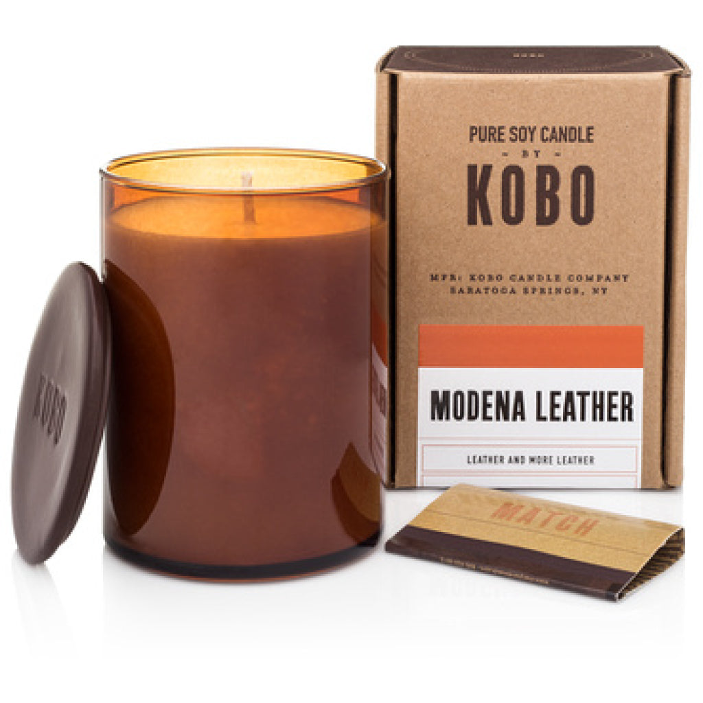 Modena Leather Candle
