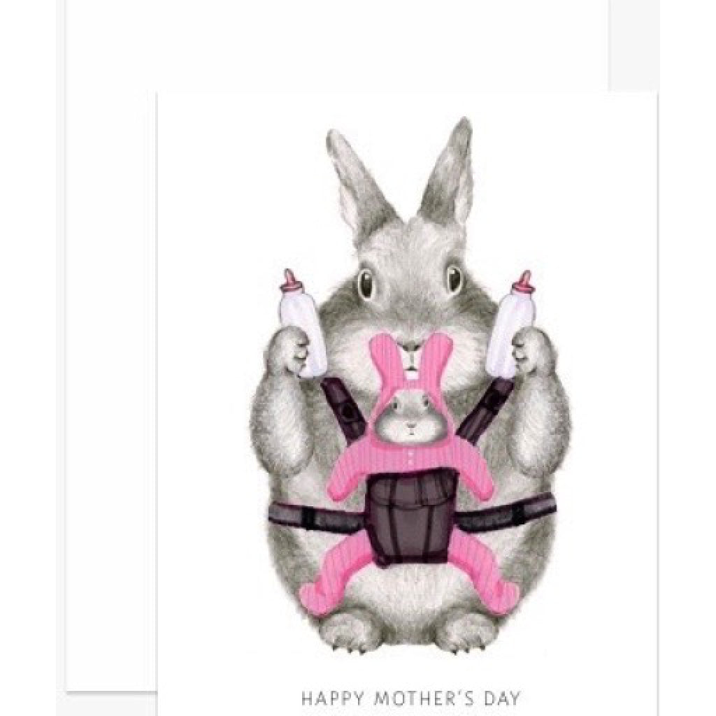 Mom Bunny Mothers Day Card alternate
