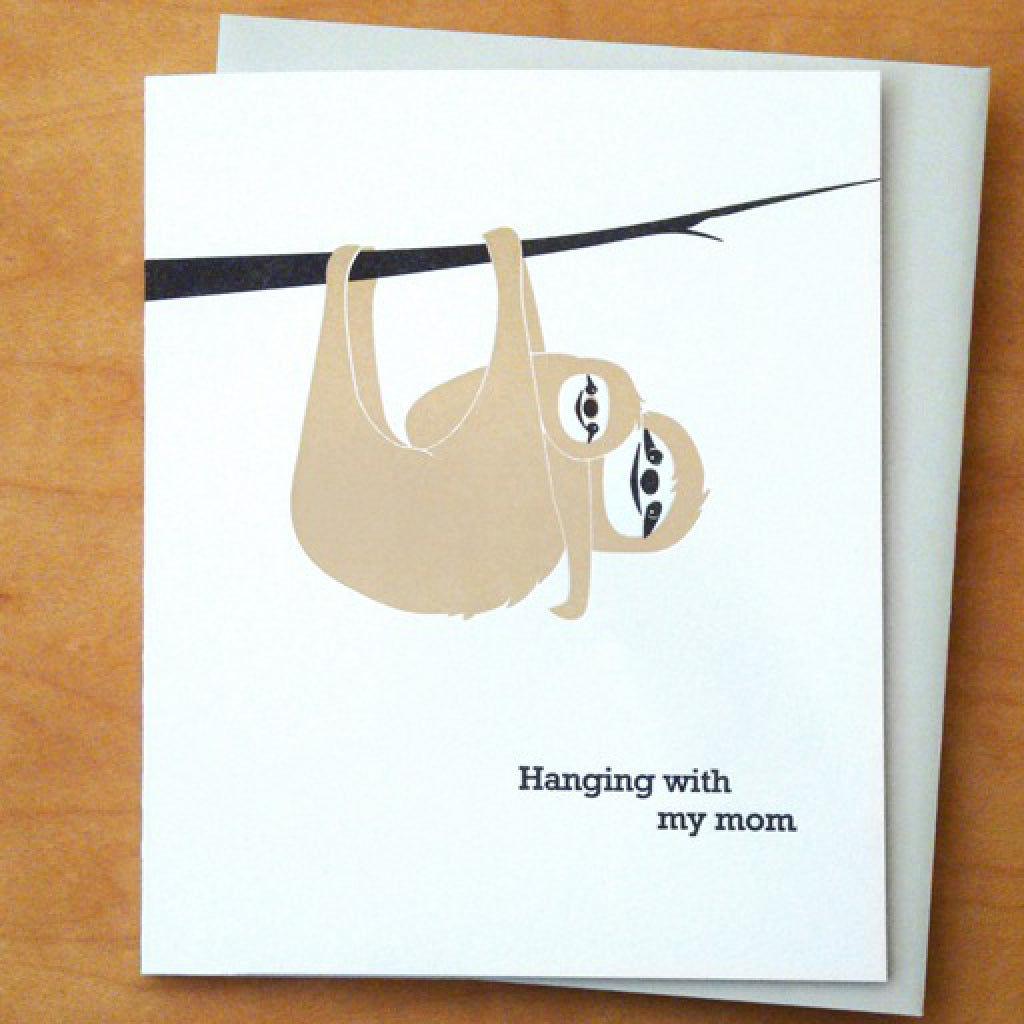 Mom Sloth Card