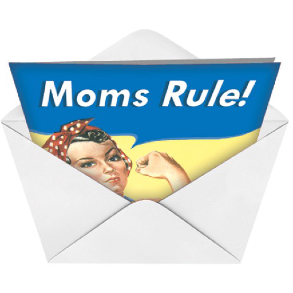 Moms Rule Card envelope