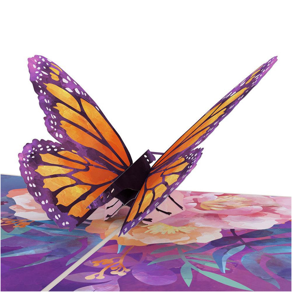 Monarch Butterfly 3D Pop Up Card