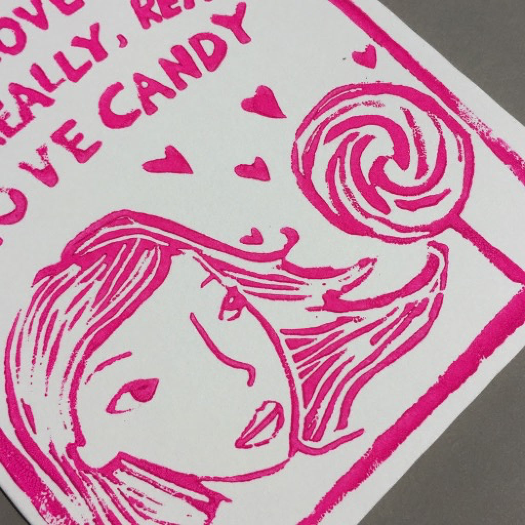 More Than Candy Card close-up