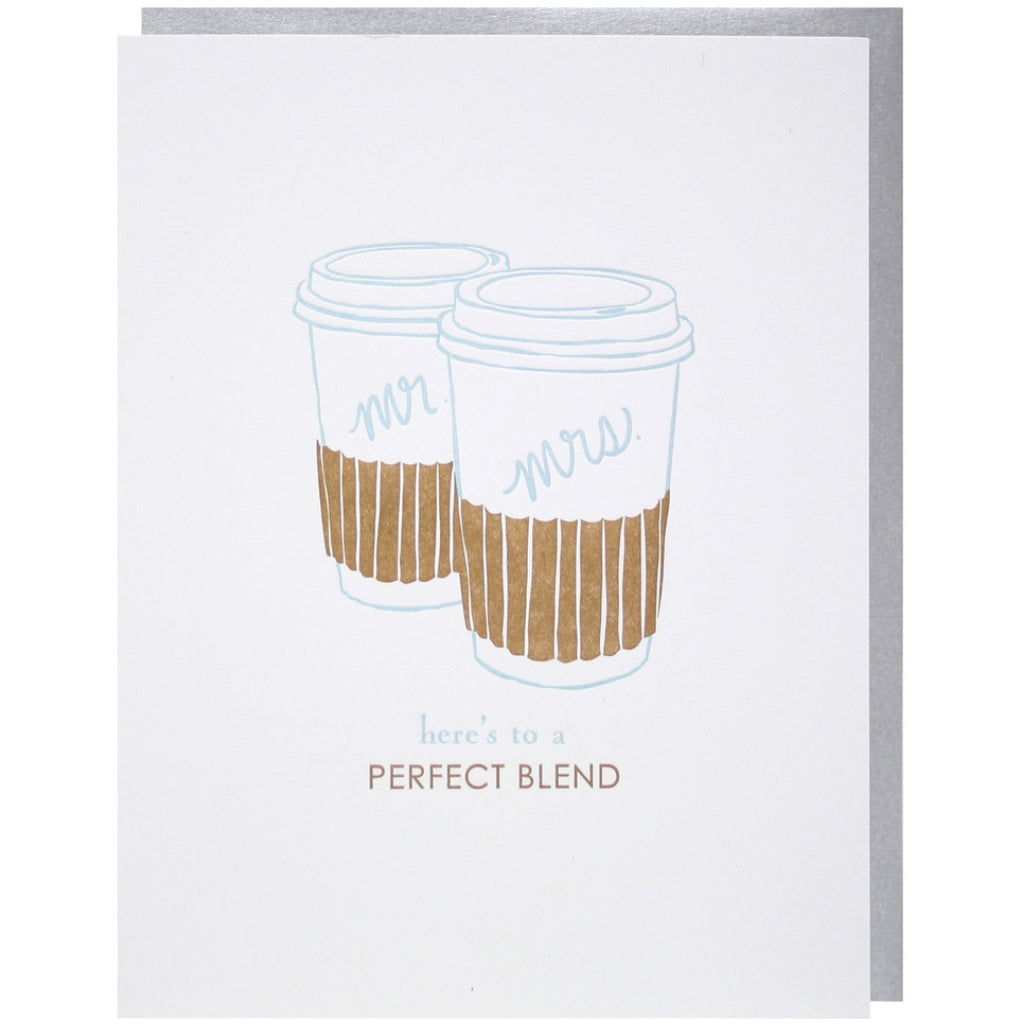 Mr. & Mrs. Coffee Cups Card
