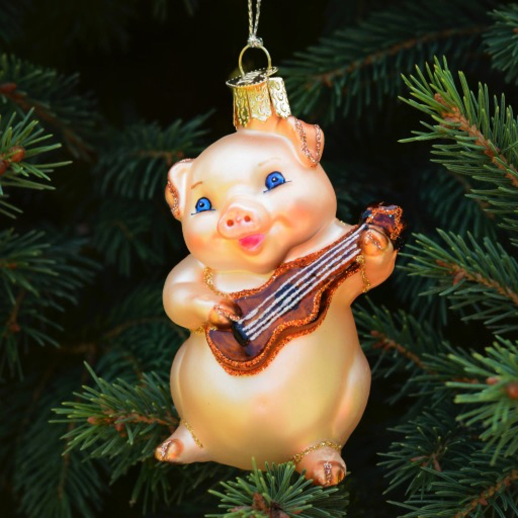 Musical Pig Ornament