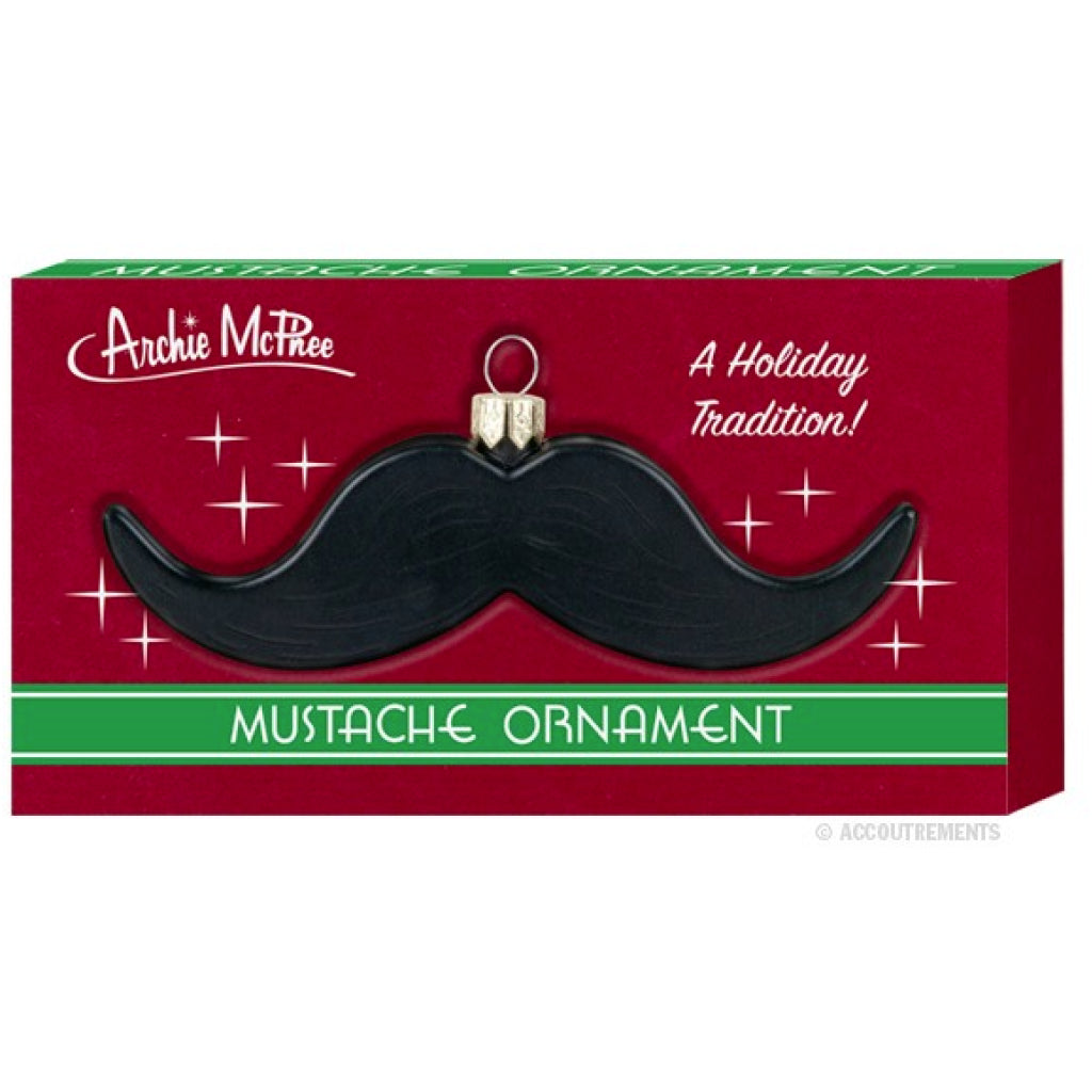 Mustache Ornament package