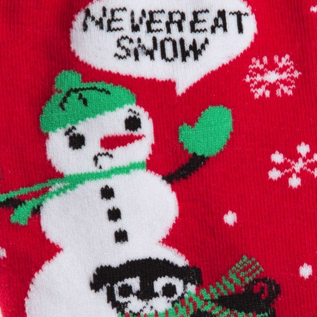 Never Eat Snow Mens Crew Socks close-up