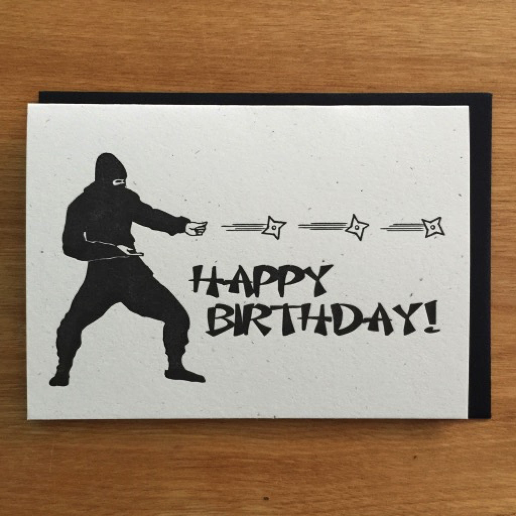Ninja Birthday Attack Card