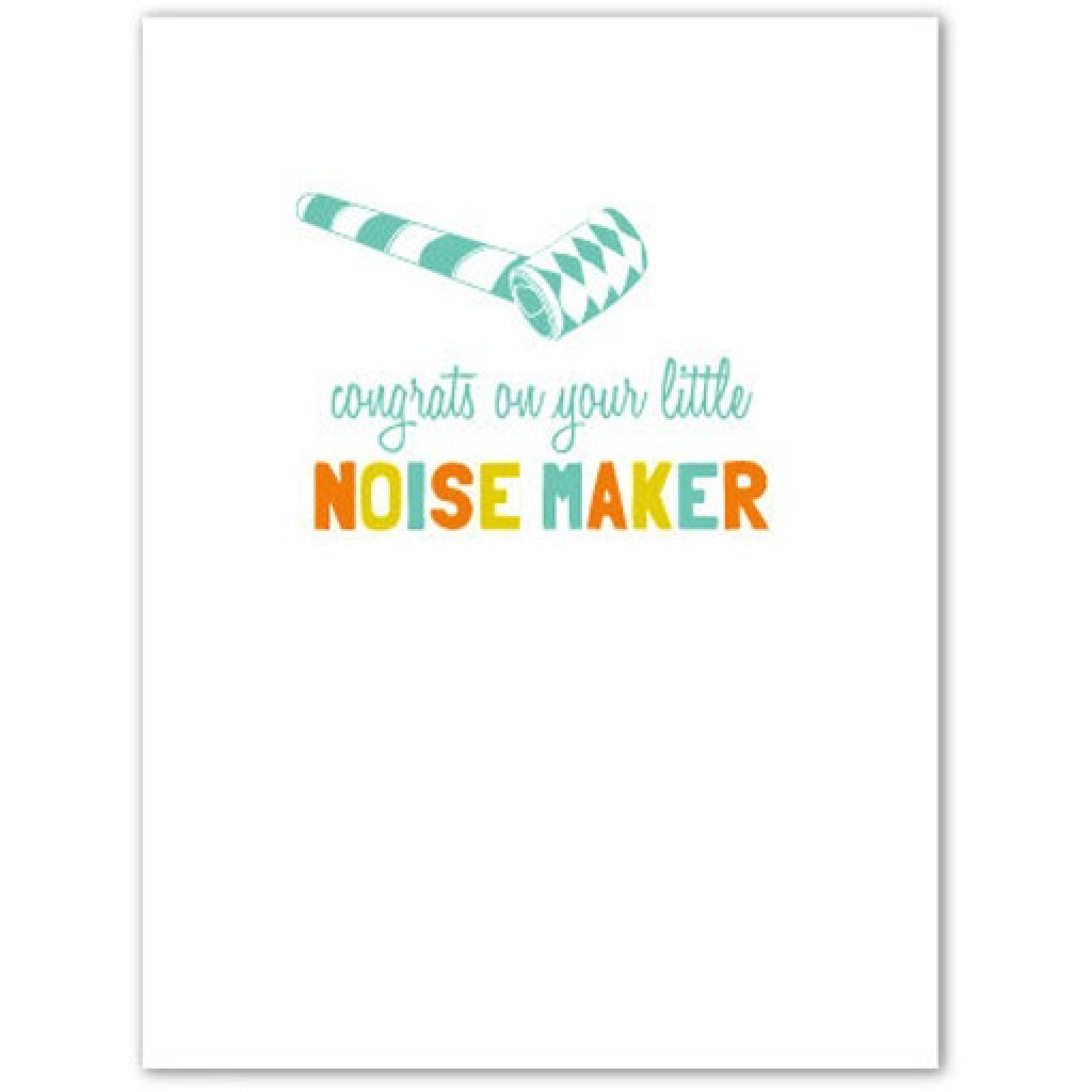 Noise Maker Card inside