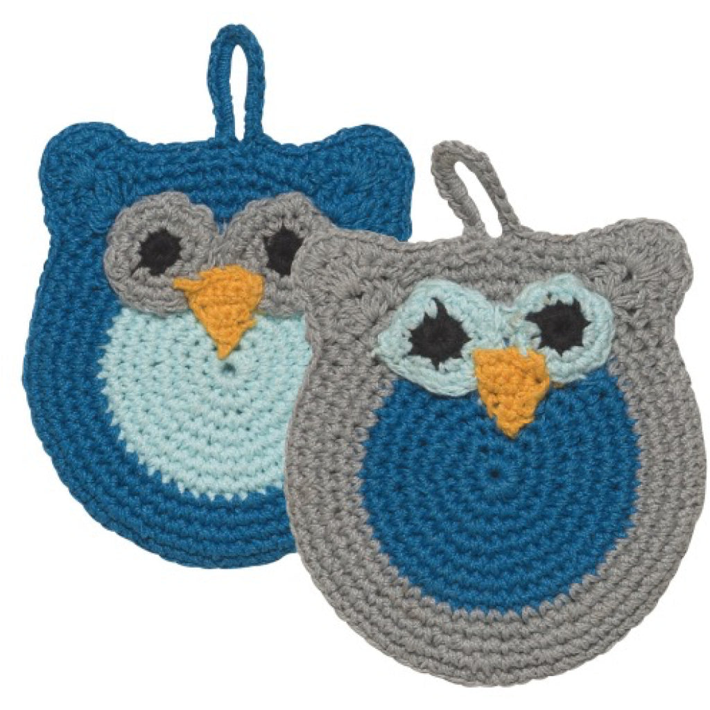 Oliver Owl Tawashi Animal Scrubbers Set of 2