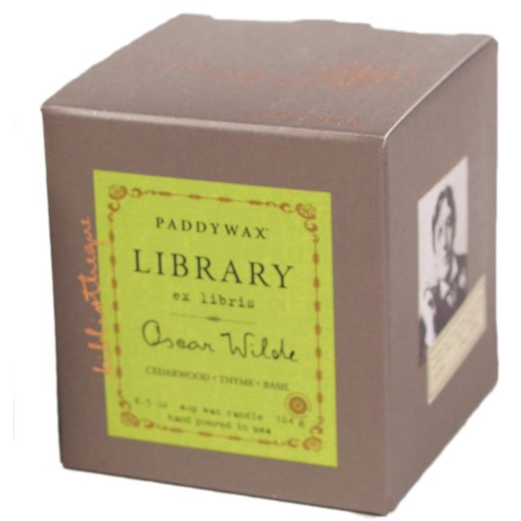 Oscar Wilde Library Candle box