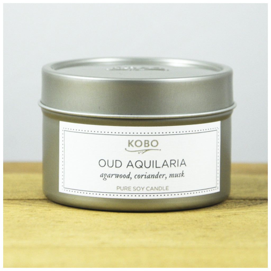 Oud Aquilaria Travel Candle front