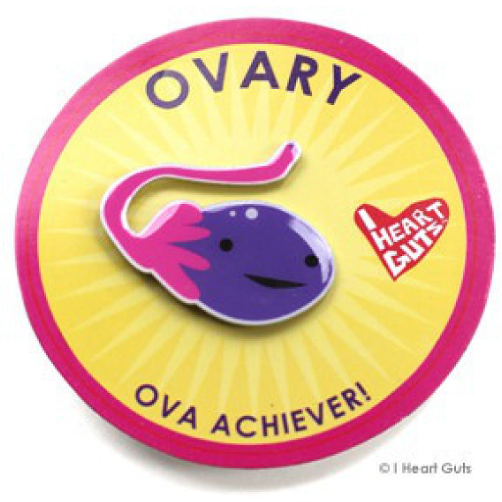 Ovary Lapel Pin package