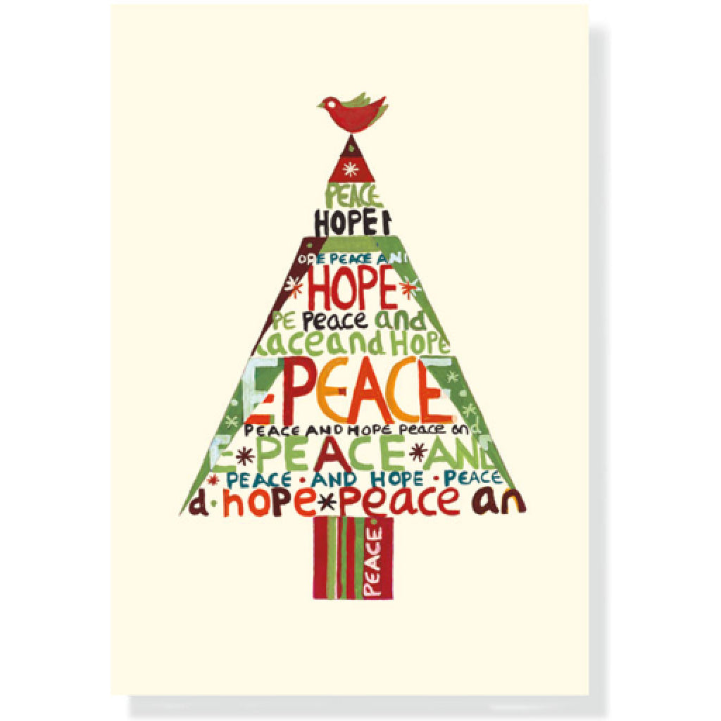 Peace Hope Tree Boxed Christmas Cards