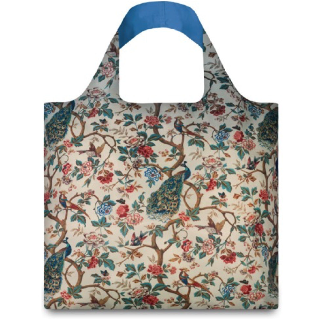 Peacock With Peonies Shopping Bag