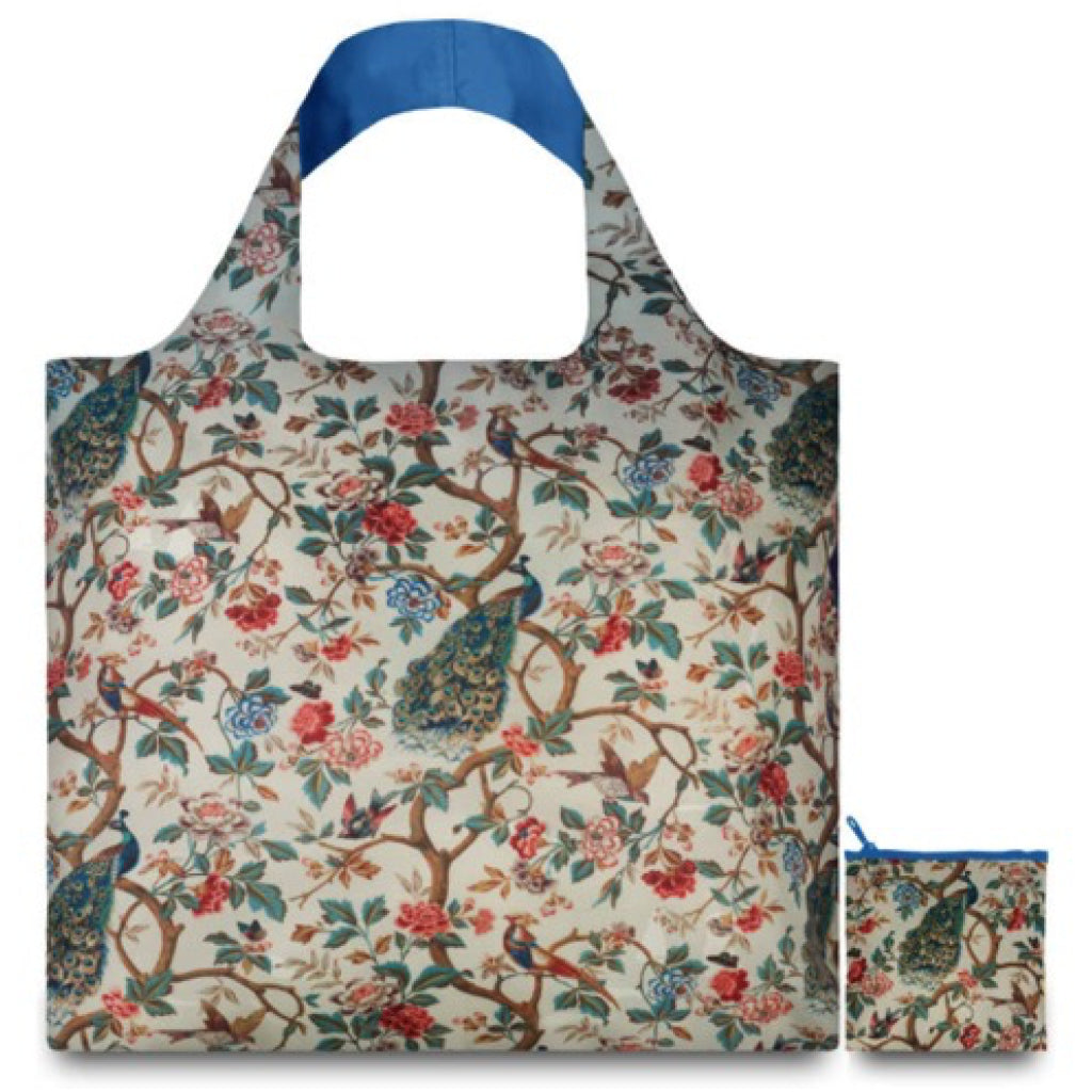 Peacock With Peonies Shopping Bag product