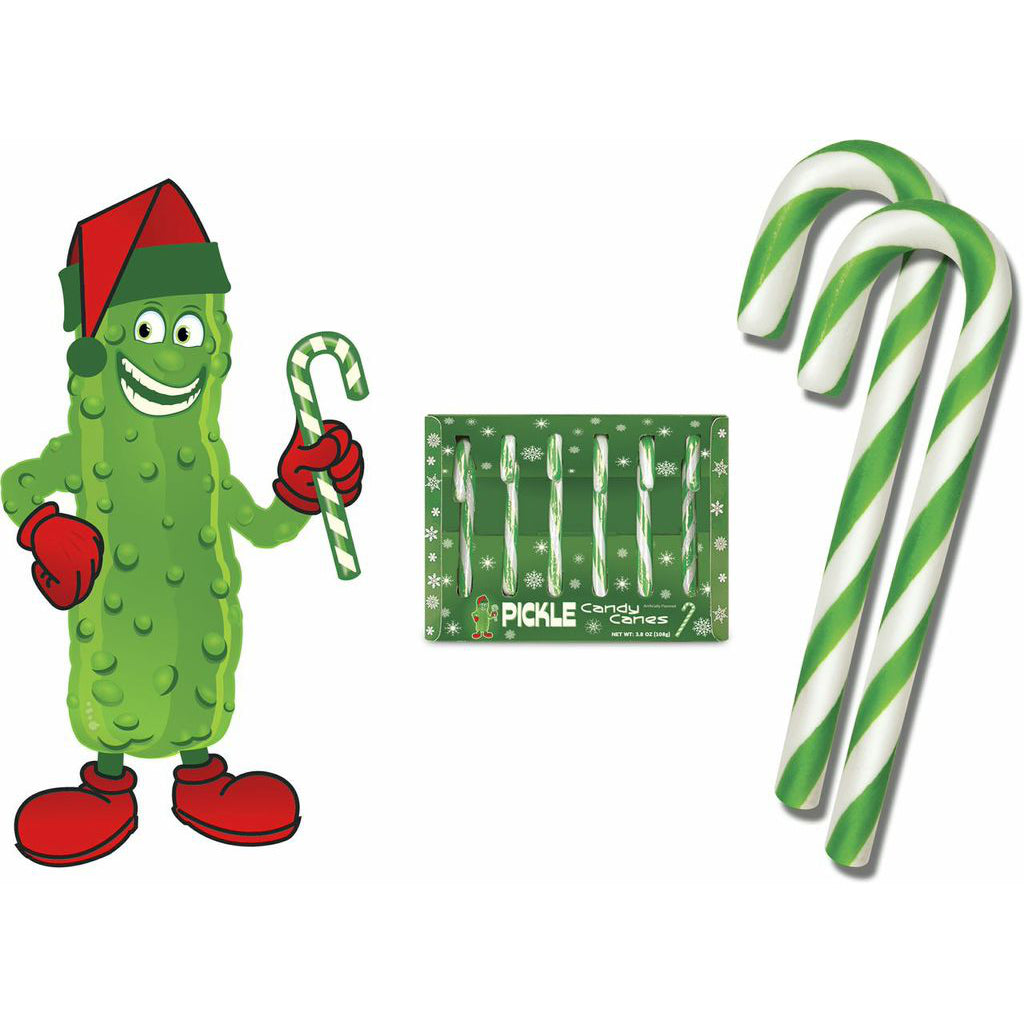 Pickle Candy Canes Set of 6