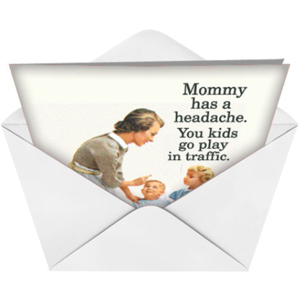 Play In Traffic Card envelope