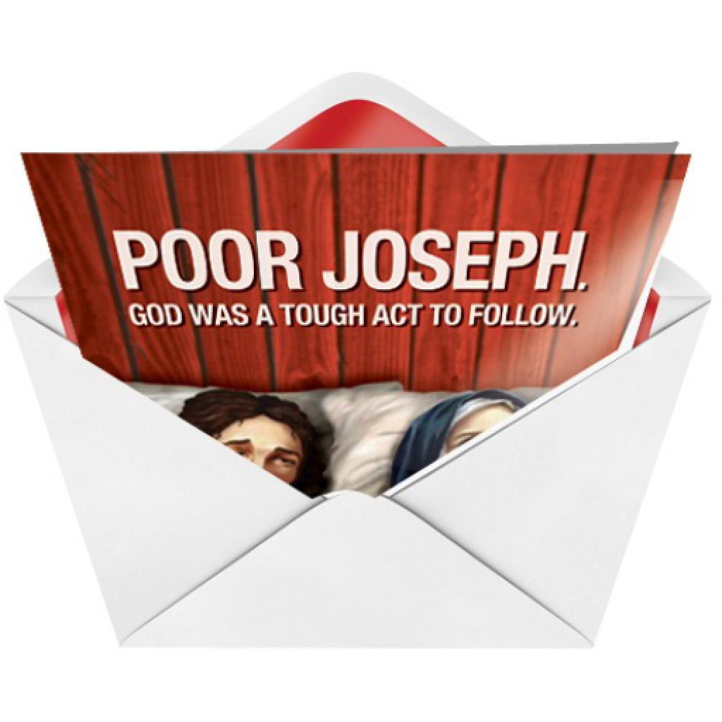 Poor Joseph Card envelope