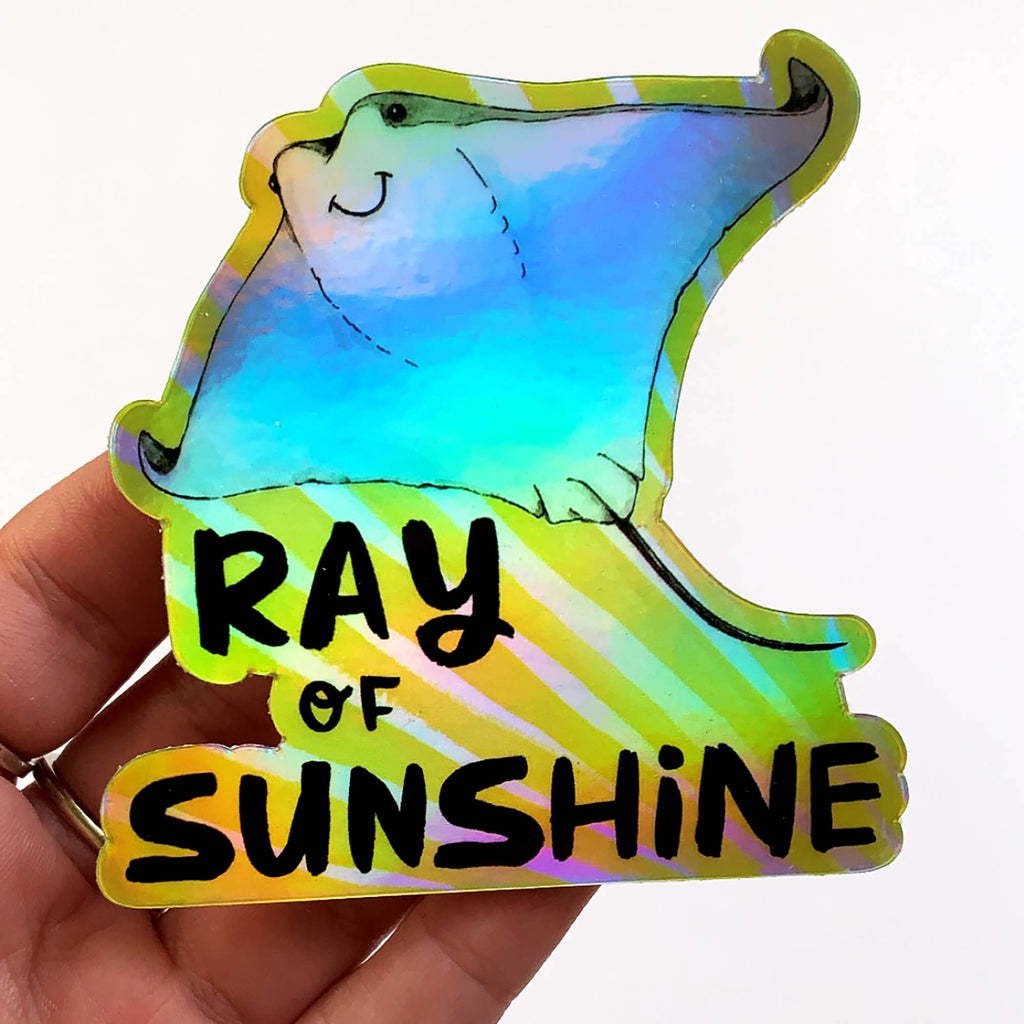 Ray of Sunshine Holographic Sticker