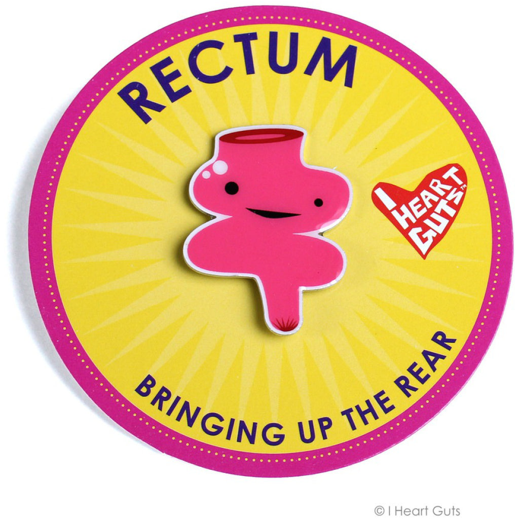 Rectum Lapel Pin package