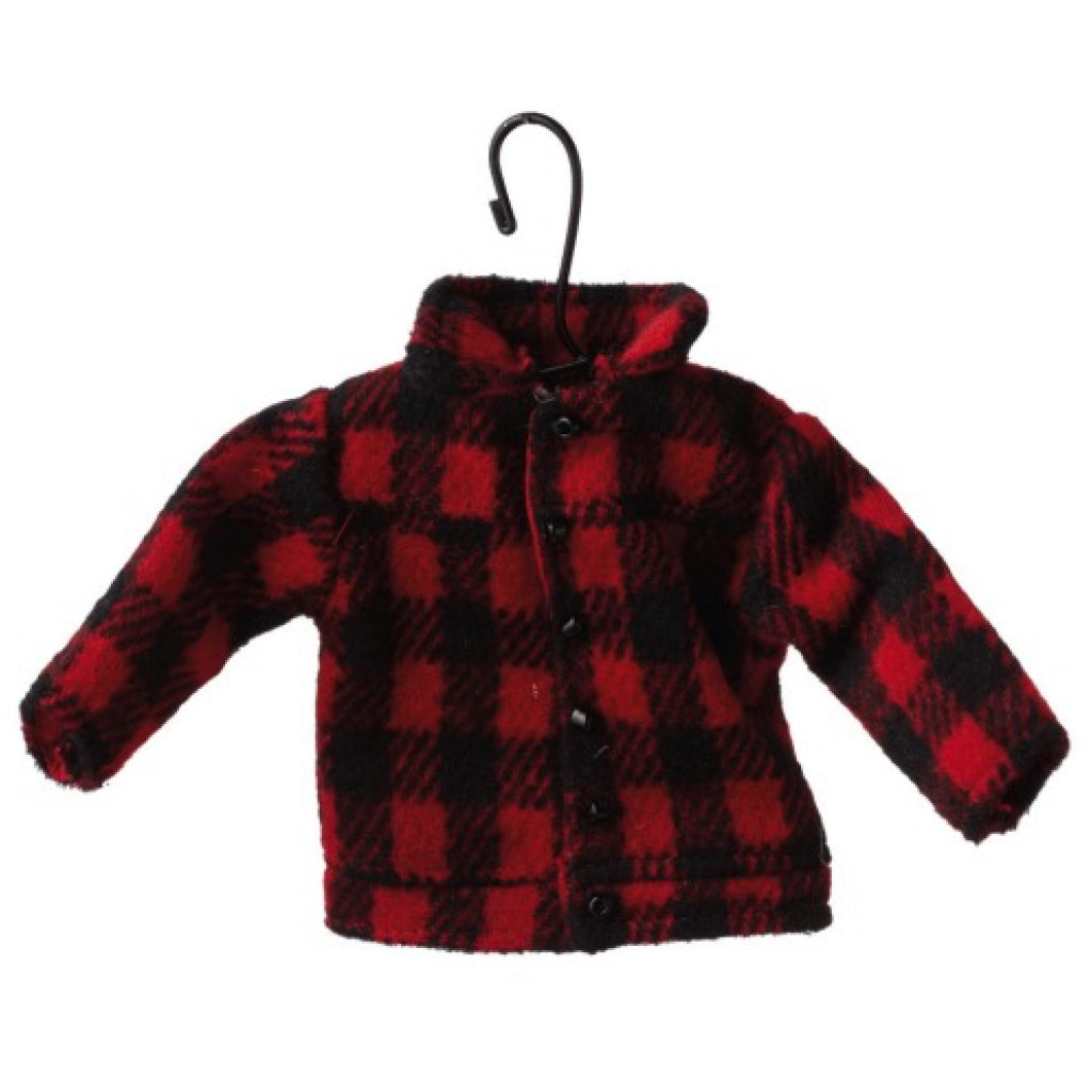 Red Plaid Coat Ornament