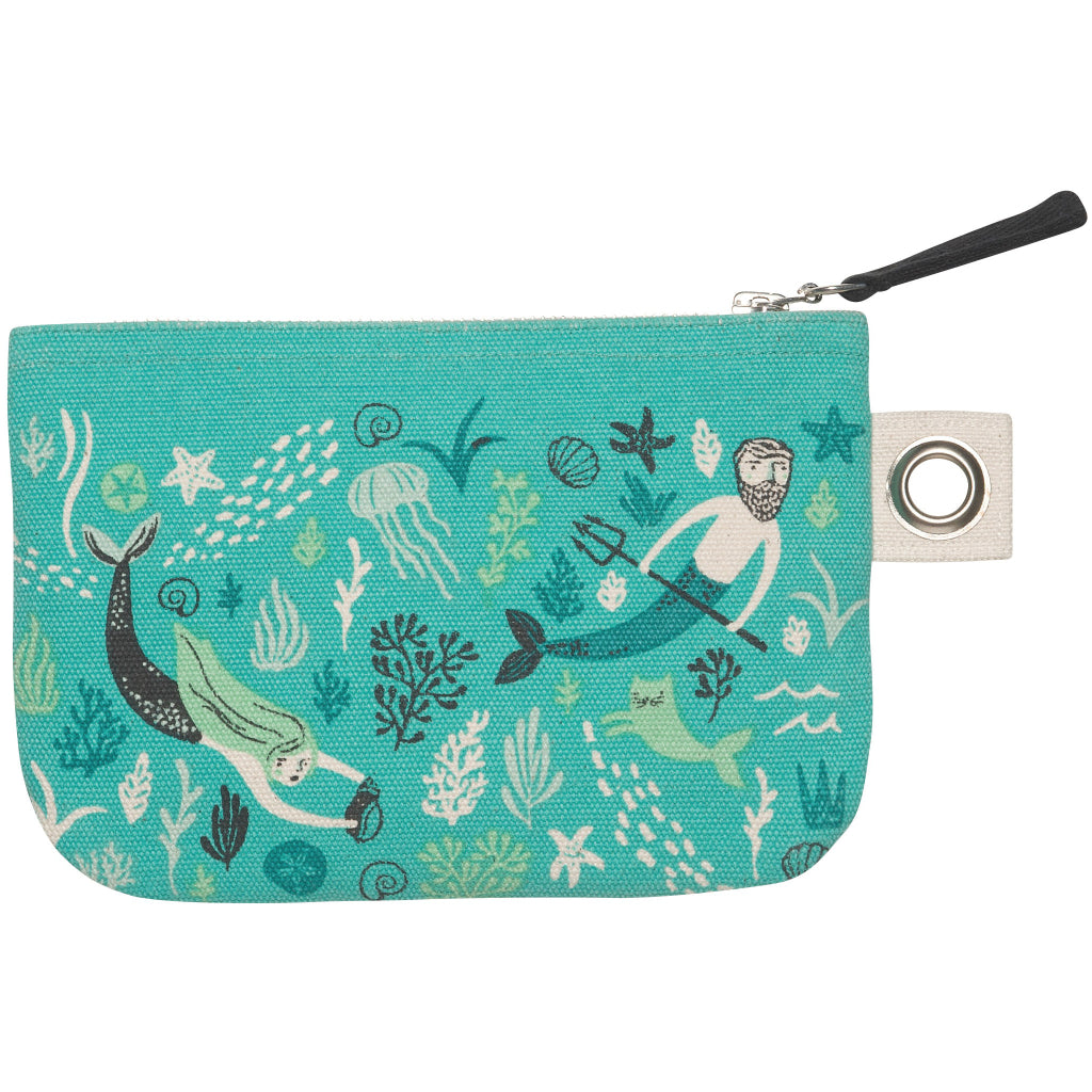 Sea Spell Small Zipper Pouch back