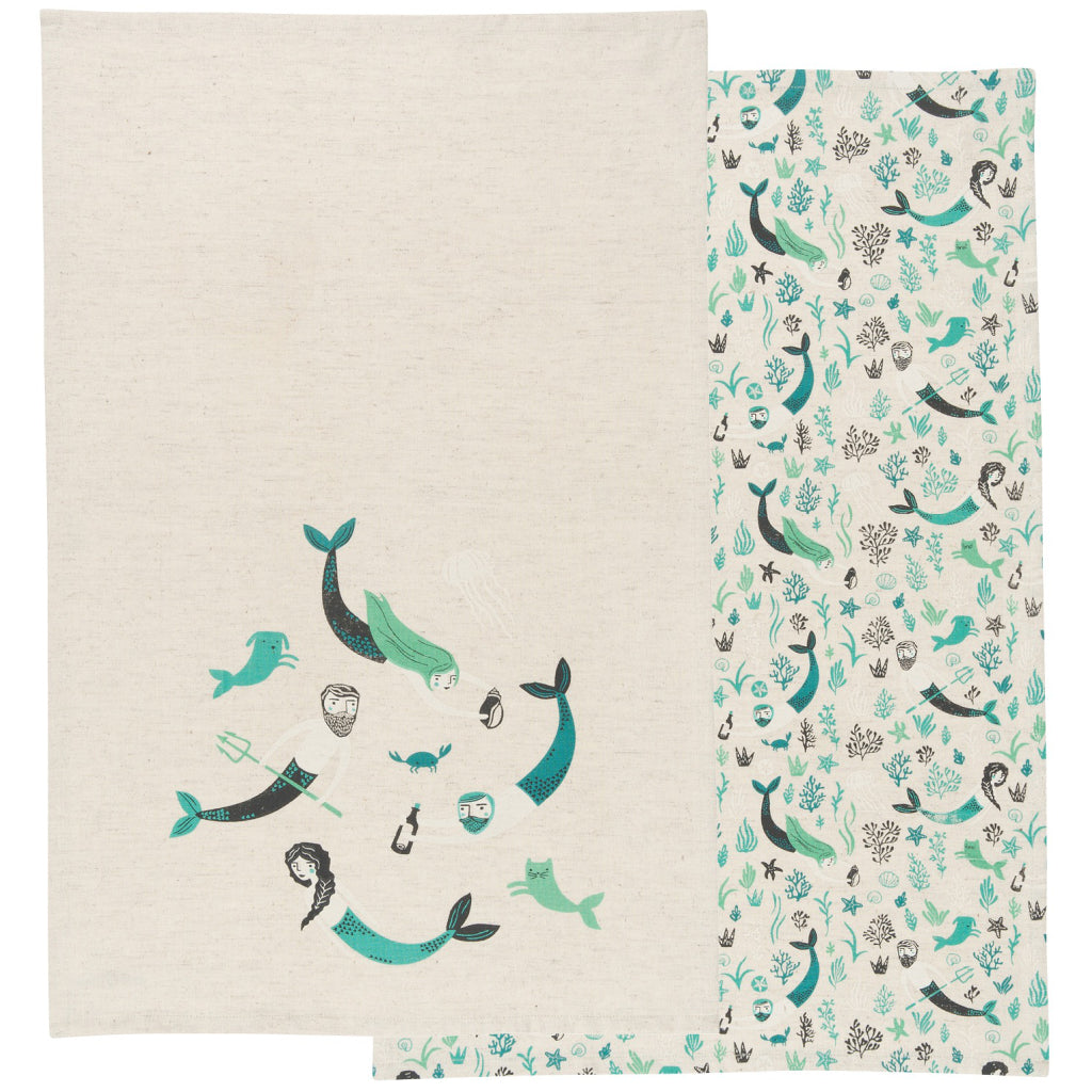Sea Spell Tea Towels Set of 2