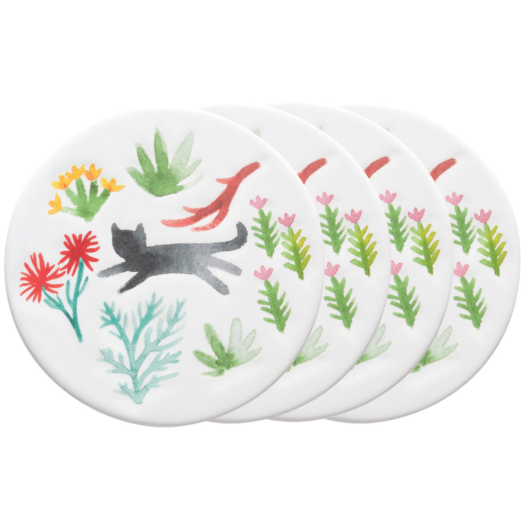 Secret Garden Ceramic Coasters Set of 4
