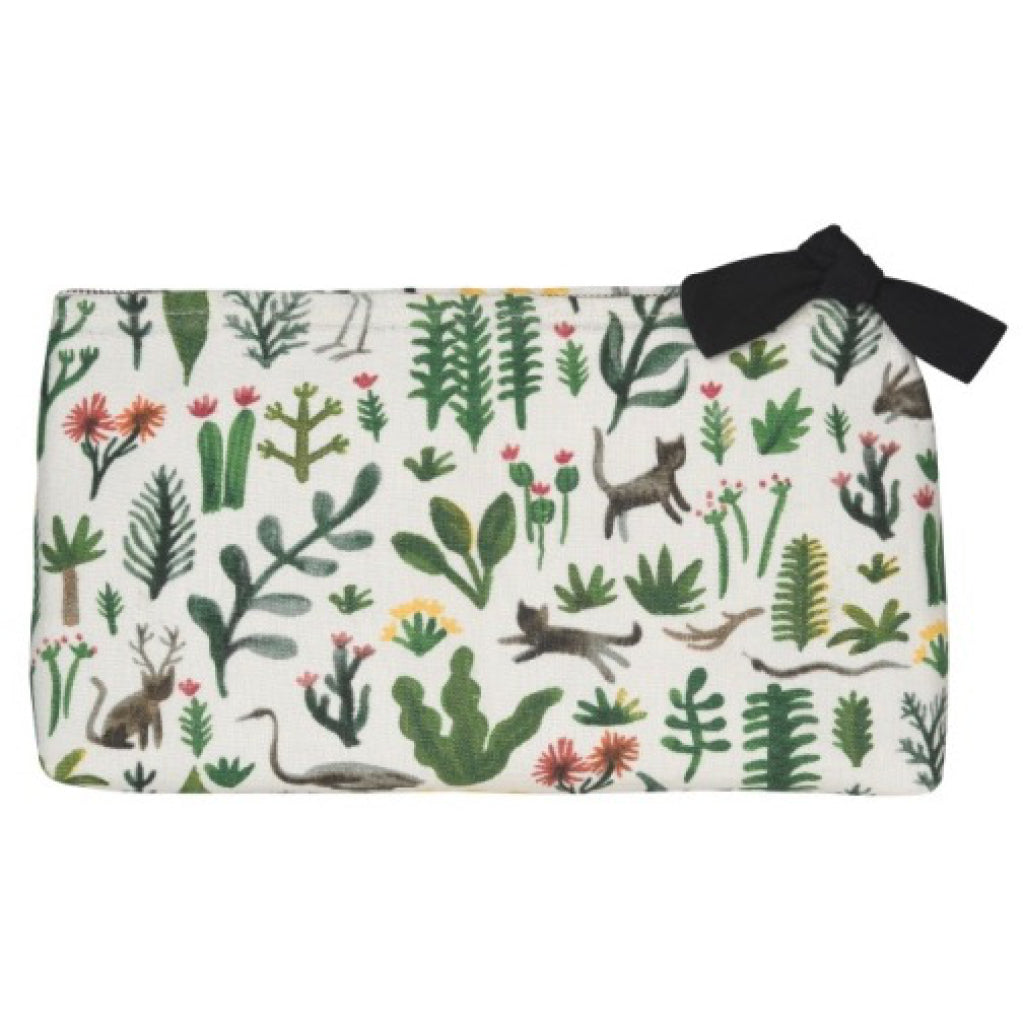 Secret Garden Linen Cosmetic Bag Large