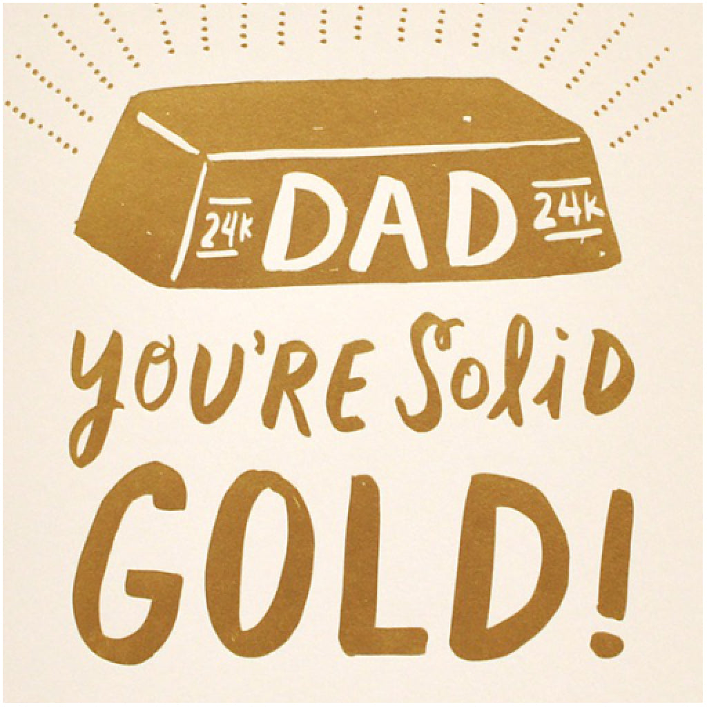Solid Gold Dad Card close-up