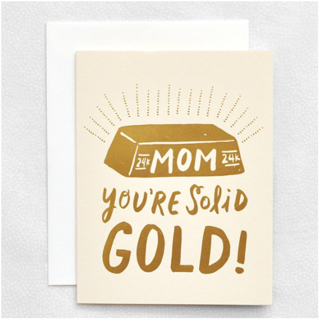 Solid Gold Mom Card