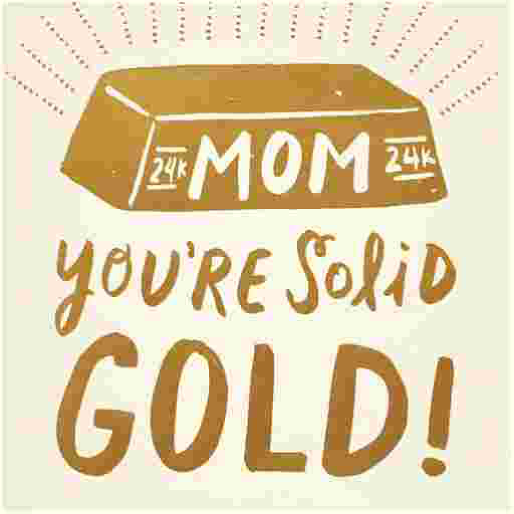 Solid Gold Mom Card close-up