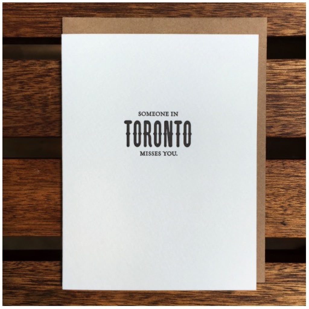Someone In Toronto Misses You Card
