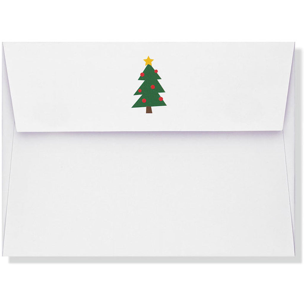 Sparkly Christmas Tree Boxed Holiday Cards envelope