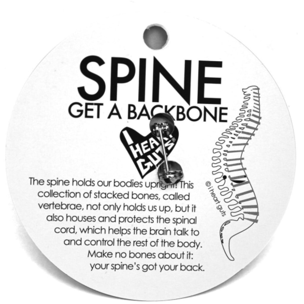 Spine Lapel Pin back
