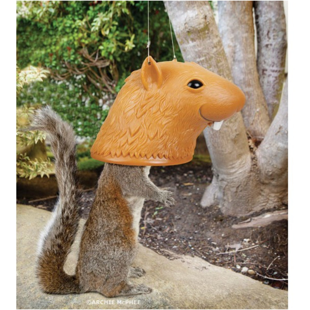 Squirrel Head Squirrel Feeder lifestyle