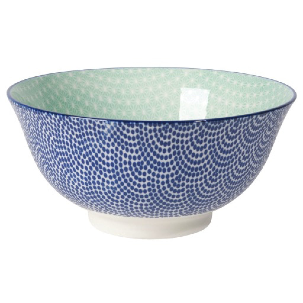 Stamped Bowl Blue Waves/Aqua