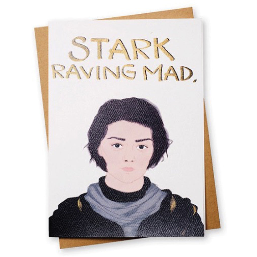 Stark Attack Greeting Game of Thrones Card