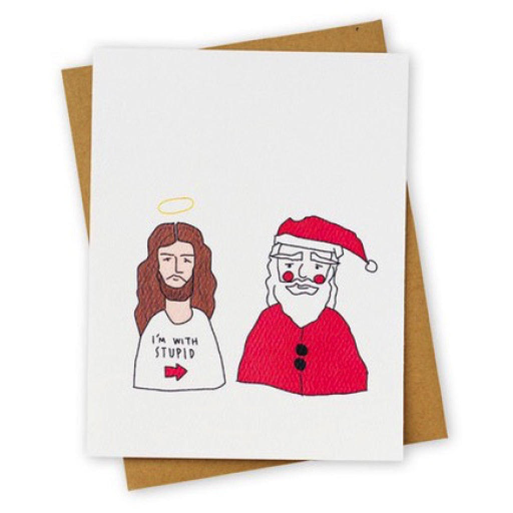 Stupid Santa Greeting Card